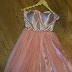 Dresses & Skirts - CUSTOM MADE STRAPLESS SATIN AND TULLE DRESS